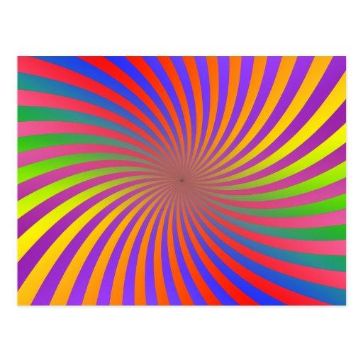 Colorful Spiral Design: Post Cards