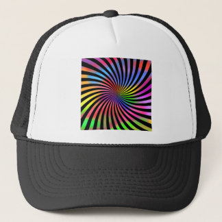 Colorful Spiral Design: Trucker Hat
