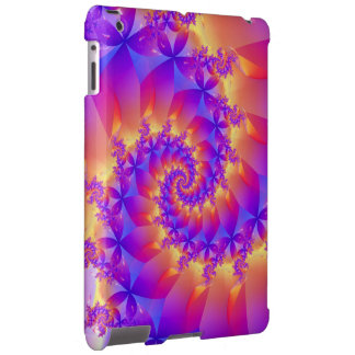 Colorful Spiral Fractal iPad Case
