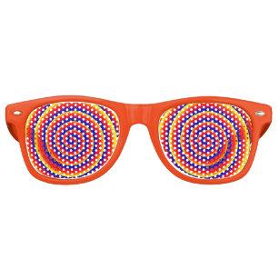 Colorful Spiral Hypnotic Optical Illusion Funny Retro Sunglasses