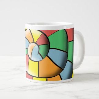 Colorful spiral large coffee mug