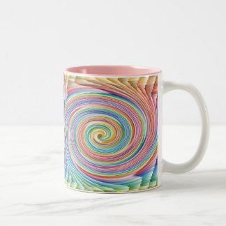 Colorful Spiral Pattern Coffee mug