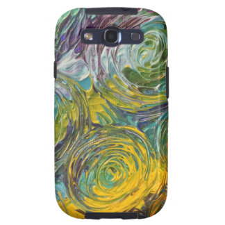 Colorful Spirals Abstract Painting Galaxy SIII Covers
