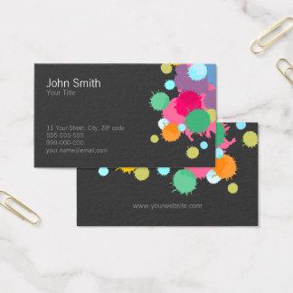 Colorful Splash Creative business card