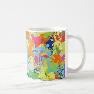 Colorful Splash Design Coffee Mug