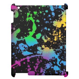 colorful splatter iPad cases
