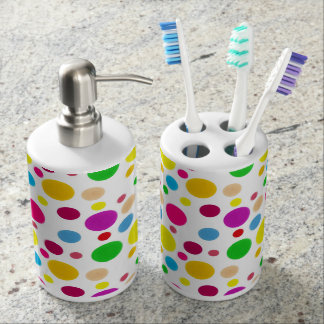 Colorful Spots Bathroom Set