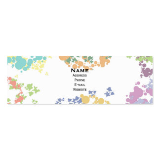 Colorful spots horizontal skinny business card