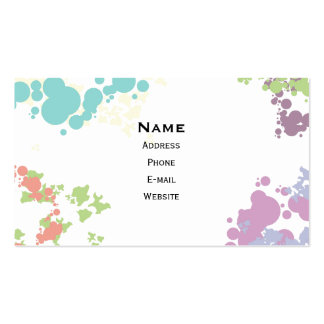 Colorful spots horizontal standard business card