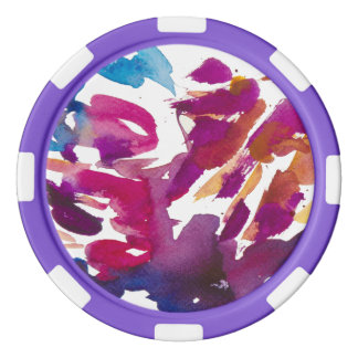 """""""Colorful spots"""" Poker Chips"""