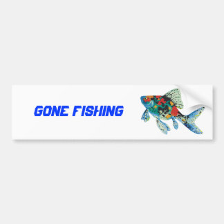 Colorful Spotted Fish Bumper Stickers