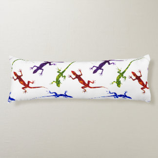 Colorful Spotted Gecko Lizards Body Pillow