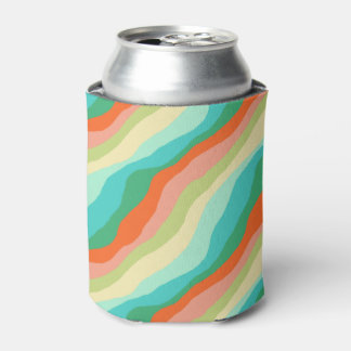Colorful Spring Abstract Pattern Can Cooler