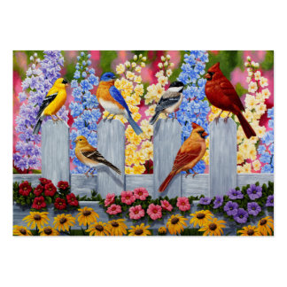 Colorful Spring Birds Garden Party Pack Of Chubby Business Cards