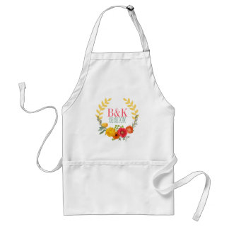 Colorful Spring Floral Wreath Standard Apron