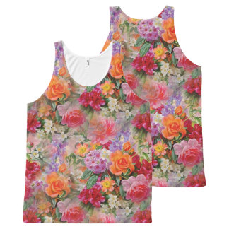 Colorful Spring Flowers All-Over Print Tank Top