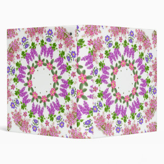 Colorful Spring Flowers Avery Binder