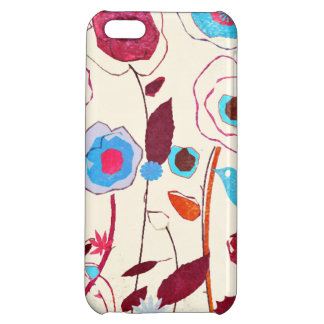 Colorful Spring Flowers Birds Mulberry Blue Orange Cover For iPhone 5C