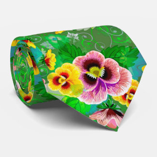 Colorful Spring Flowers Design Tie
