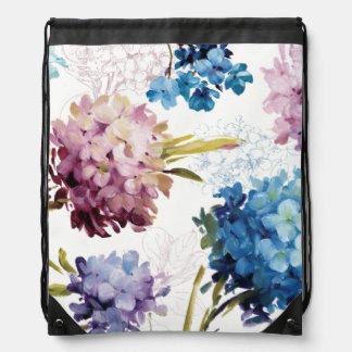 Colorful Spring Flowers Drawstring Bag