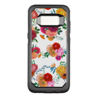 Colorful Spring Flowers Illustration OtterBox Commuter Samsung Galaxy S8 Case