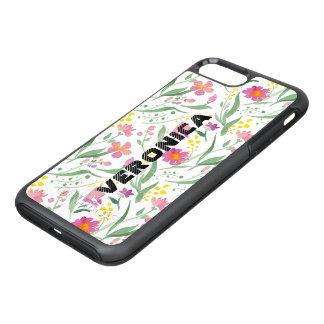 Colorful Spring Flowers & Leafs Pattern OtterBox Symmetry iPhone 8 Plus/7 Plus Case