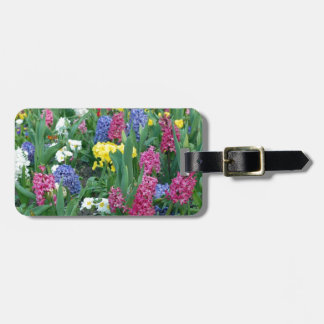 Colorful Spring Flowers Luggage Tag