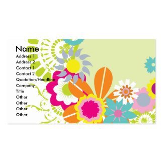 colorful spring flowers vector pack of standard business cards