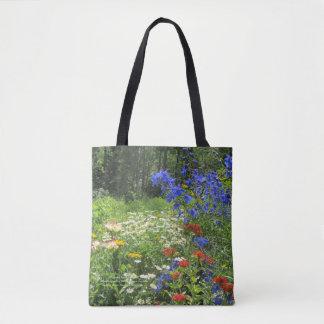 Colorful Spring Garden! Larkspur Blue Tote Bag