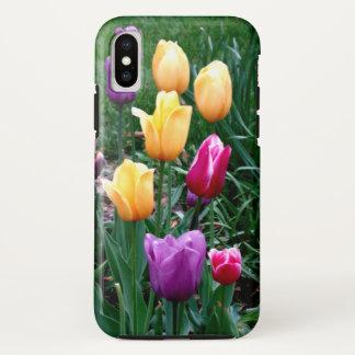 Colorful Spring Tulips Flowers Mother's Day Gift iPhone X Case