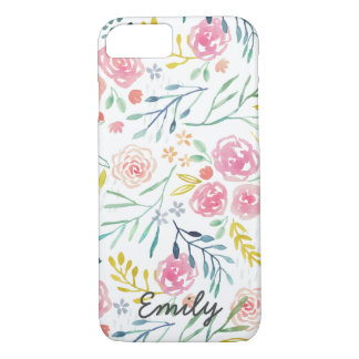 Colorful Spring Watercolor Floral iPhone 8/7 Case