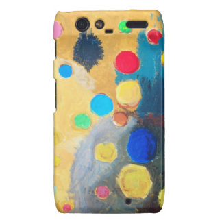 Colorful Sprites abstract naive painting Motorola Droid RAZR Cases