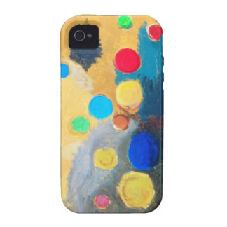 >Colorful Sprites (abstract naive painting) iPhone 4/4S Cases