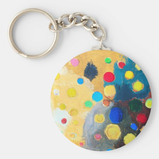 >Colorful Sprites (abstract naive painting) Keychains