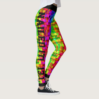 Colorful Square Geometric Nailed it Leggings
