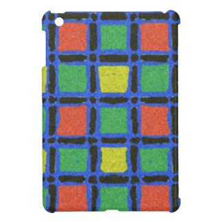 Colorful square pattern iPad mini cases