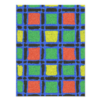 Colorful square pattern photo