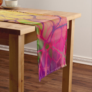 Colorful square short table runner