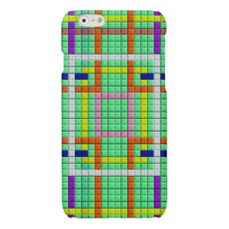 colorful square trendy brick pattern iPhone 6 plus case