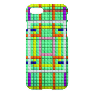 colorful square trendy brick pattern iPhone 8/7 case