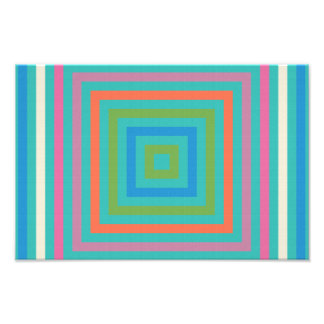 Colorful squares abstract design photo print
