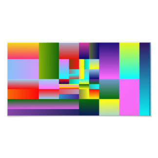 Colorful Squares and Rectangles Photo Art