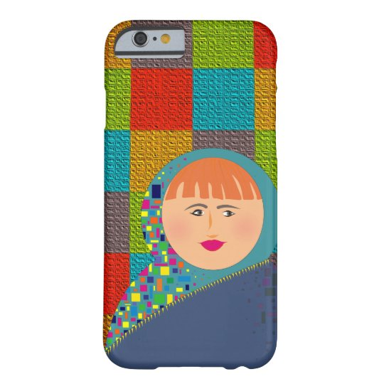 Colorful Squares Beautiful Red Hair Woman Barely There