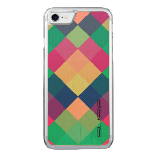 colorful squares by name carved iPhone 8/7 case