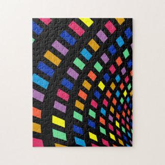 Colorful Squares Geometric Puzzle