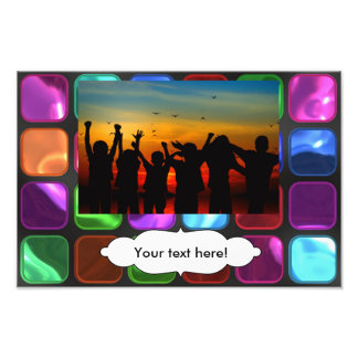 Colorful squares pattern art photo