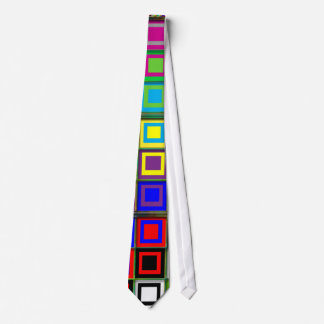 Colorful Squares Patterned Tie