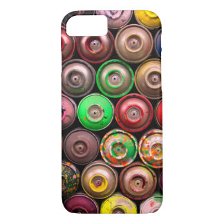 Colorful Stacked Spray Paint Cans iPhone 8/7 Case