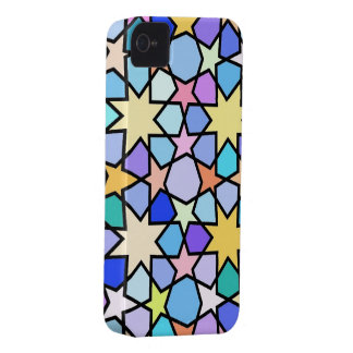 Colorful Stain glass effect Stars iPhone 4 Case