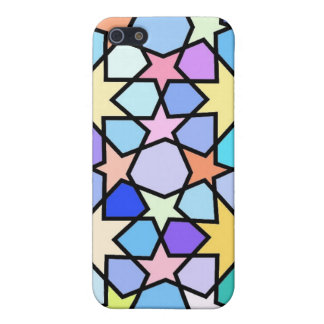 Colorful Stain glass effect Stars Pattern Case For The iPhone 5